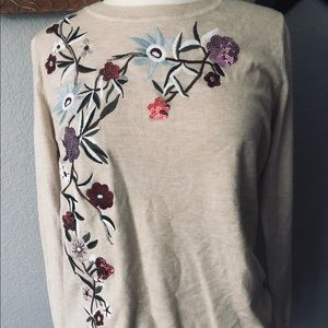 Forever 21 sweater with embroidery on the side.